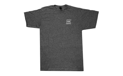 Glock OEM AP95687 Blue Line Patriot Medium Short Sleeve T-Shirt Gray Polyester Blend