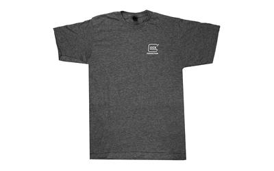 Glock AP95688 Blue Line Patriot Large T-Shirt Gray Polyester Blend