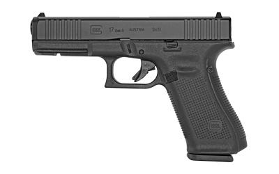 Glock PA175S201 G17 Gen5 9mm Luger 4.49in. 10+1 Black Polymer Black nDLC Slide