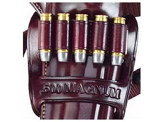 Galco KHB34HKodiak Bandolier Kodiak Holster 45-480 Caliber 6rd Leather Havana Brown