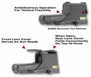 GG&G, Inc. Scopecover, Fits EOTech 512/552, Flip Lens Cover, Black GGG-1275