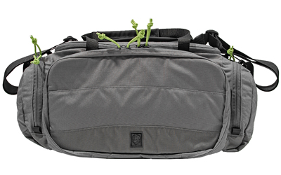 Grey Ghost Gear Range Bag, Gray w/ Lime Green Zipper Pulls, 500D Cordura Nylon, 60200-28