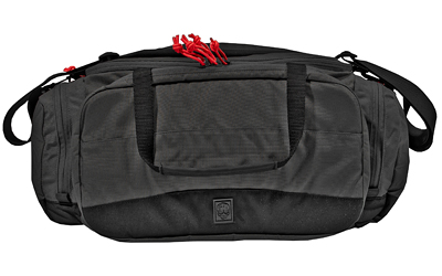 Grey Ghost Gear Range Bag, Black w/ Red Zipper Pulls, 500D Cordura Nylon, 60200-2
