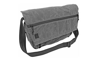 Grey Ghost Gear Wanderer Messenger Bag, Charcoal Grey, Waxed Canvas, 20.5