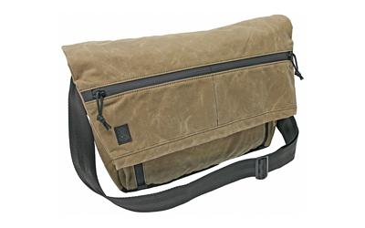 Grey Ghost Gear Wanderer Messenger Bag, Field Tan, Waxed Canvas, 20.5