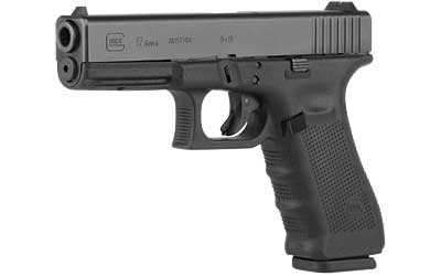 Glock UG1750203 G17 Gen4 Double 9mm Luger 4.48 17+1 FS Black Interchangeable Backstrap Grip Black in.