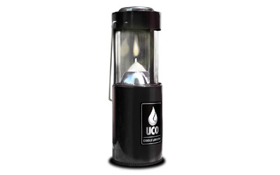 Industrial Revolution Original Candle Lantern, Anodized Black L-AN-STD-BLK