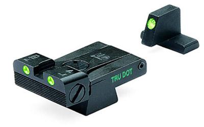 Meprolight 21516 Tru-Dot Night Sight Set Adjustable HK USP Full Size|Expert|Tactical Tritium Green Front|Rear Black