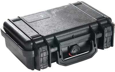 Pelican 1170 Protector Small Case Polypropylene Black 10.54 x 6.04 in.  x 3.16 in.  (Exterior) in.
