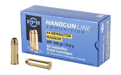 PPU PPH44MH Handgun 44 Rem Mag 240 gr Jacketed Hollow Point 50 Bx/ 10 Cs