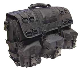 Peace Keeper SPOPCB Overnight Range Bag Overnight Bag Tactical 600D Polyblend PVC Lining 17 x 12 in.  x 6 in.  Black in.