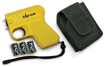 Zap ZAPGUN Zap Gun Stun Gun Portable Close Contact  Yellow