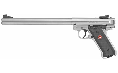 Ruger 40174 Mark IV Target 22 LR 10in. 10+1 Stainless Steel Black Synthetic Grip