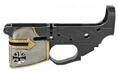 Spikes STLB600PCH Rare Breed Crusader Painted AR Platform Multi-Caliber Black Hard Coat Anodized