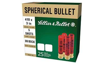 Sellier & Bellot V051562U 410ga 3 00 Buckshot 5 Pellets 25Box|20Case in.