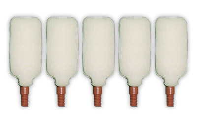Super-Brush Bore-Tips Plastic Foam Over Plastic Core Cleaning Tips .40|10mm|.410 Gauge 5 Per Package