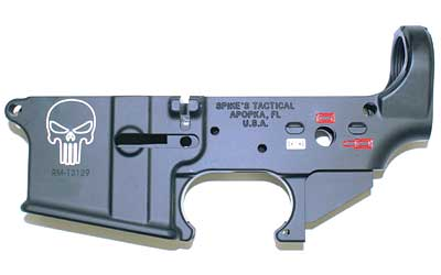 Spikes STLS015-CFA Lower Forged Punisher Multi-Caliber AR Platform Black