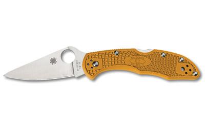 Spyderco Delica4 Folding Knife, VG-10 Blade Steel, OrangeFRN Handle C11FPOR
