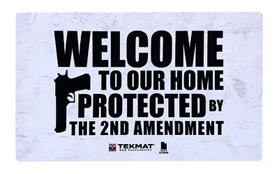 BECK TEK LLC (TEKMAT) 422AMENDMENT 2nd Amendment Door Mat 25in. x 42in. White/Black