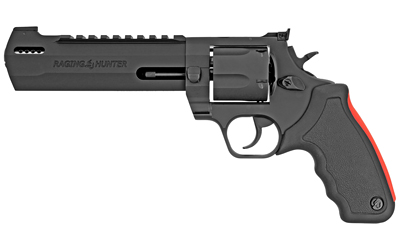 Taurus 2454061RH Raging Hunter 454 Casull 5 Round 6.75in. Black Aluminum Black Rubber Cushion Insert Grip