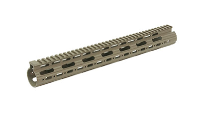 Leapers Inc. AR15 15 in.  SS Free Float Handguard-FDE