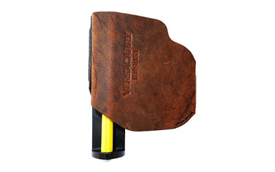 VersaCarry Zerobulk Pro OWB/IWB Holster, Leather, Black/Distressed Brown, 380 acp X-Small, Pro380 XS