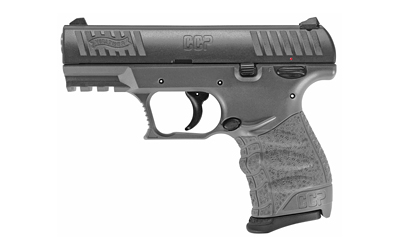 Walther Arms 5080505 CCP M2 9mm Luger 3.54in. 8+1 Tungsten Gray Black Polymer Grip
