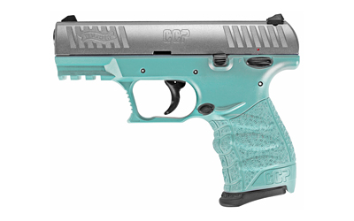 Walther Arms 5082512 CCP M2 380 ACP 3.54in. 8+1 Angel Blue Stainless Black Polymer Grip