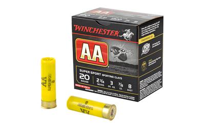 Winchester Ammo AASC208 AA Target Loads 20 Gauge 2.75 7|8 oz 8 Shot 25 Bx| 10 Cs in.