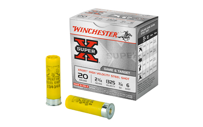Winchester Ammo WE20GT6 Expert 20 Gauge 2.75 3|4 oz 6 Shot 25 Bx| 10 Cs in.