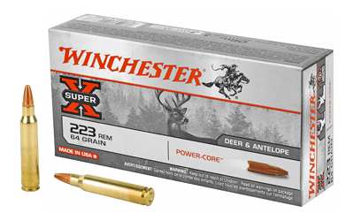 Winchester Ammo X223LF Super-X 223 Remington|5.56 NATO 64 GR Power Core 20 Bx|10 Cs