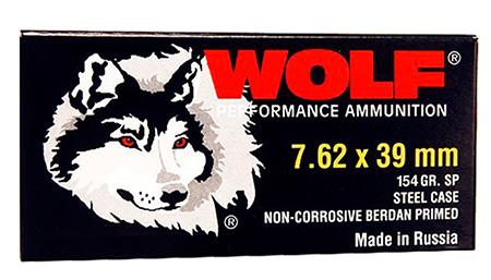 Wolf 762BSP PolyFormance Rifle 7.62X39mm 125 GR Soft Point 20 Bx| 50 Cs 1000 Total (Case)