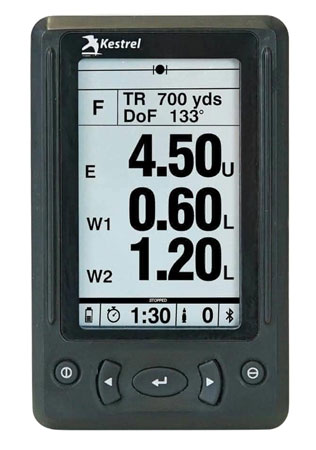 KESTREL(NIELSEN-KELLERMAN 0750LRBLK HUD for 5 Series Ballistic Meter Black
