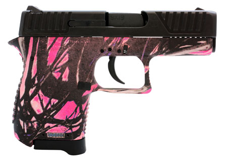 Diamondback DB380MG DB380 Micro-Compact Single Double 380 Automatic Colt Pistol (ACP) 2.8 6+1 Muddy Girl Polymer Grip Black in.