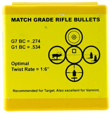 Berger Bullets 22423 Target 22 Caliber .224 90 GR Target Very Low Drag 100 Box