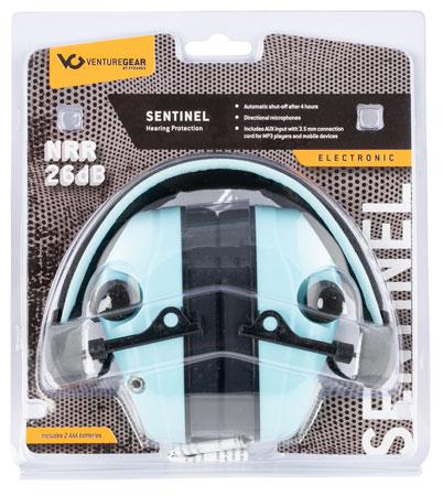 Pyramex VGPME26 Venture Gear Sentinel Polymer 26 dB Over the Head Powder Blue Ear Cups w/Black Band