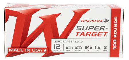 Winchester Ammo TRGT128VP Super Target 12 Ga 2.75