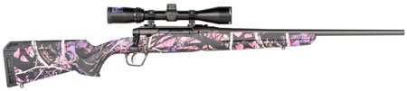 "Savage 57478 Axis II XP Compact 6.5 Creedmoor 4+1 20"" Muddy Girl Stock Matte Black RH Bushnell Banner 3-9x40mm"""""