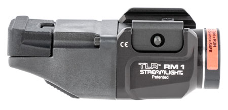 Streamlight 69441 TLR RM 1 White 500 Lumens CR123A Lithium Battery Black Aluminum w/ Remote Pressure Switch
