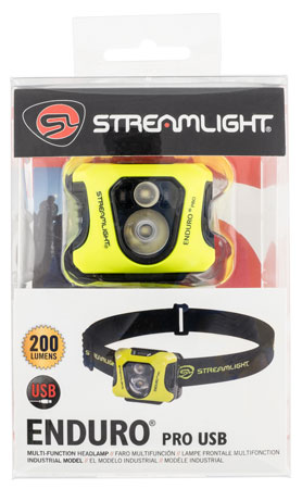 Streamlight 61436 Enduro Pro USB Headlamp w/ Dual Lock Box Yellow