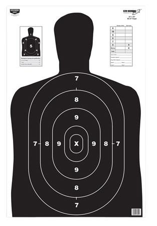 "Birchwood Casey 37021 EZE-Scorer BC-27 Paper 23"" x 35"" Silhouette Black 100 Per Pack"""""