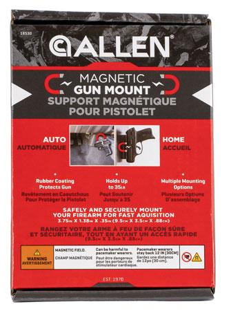 Allen 18530 Magnetic Handgun Mount Handgun,Rifle,Shotgun Black Rubber