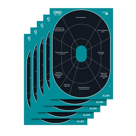 "Allen 15283 GWG Splash Self-Adhesive Paper 12"" x 17.25"" Oval Turquoise/Black 5 Per Pack"""""