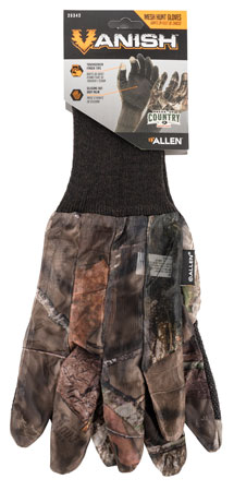 Allen 25342 Vanish Hunting Gloves One Size Fits Most Mossy Oak Break-Up Country Mesh Touchscreen