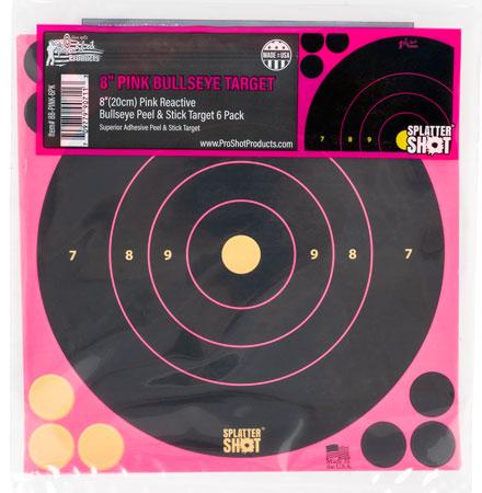 Pro-Shot 8B-PINK-6PK SplatterShot Self-Adhesive Paper 8