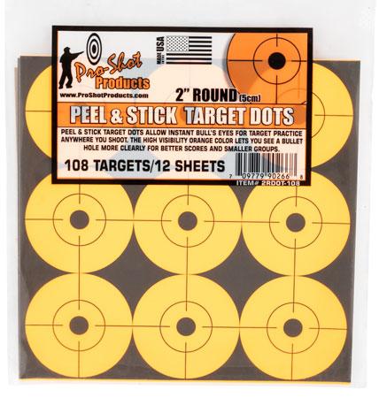 Pro-Shot 2RDOT-108 Peel & Stick Target Dots 2