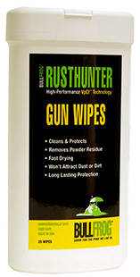 Bull Frog 92383 Rust Hunter Gun Cleaning Wipes 25 Piece