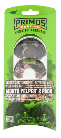 Primos PS1231 Mouth Yelper Wild Turkey Three Reed Mouth Call Mossy Oak 2-Pack