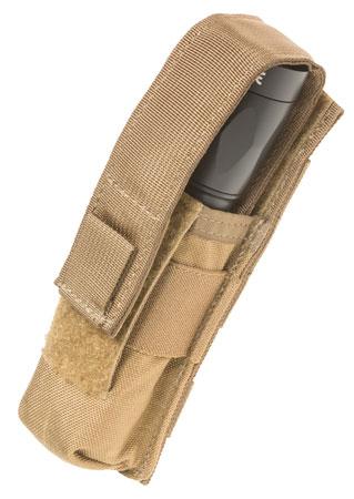 TACSHIELD (MILITARY PROD) T4001CY Suppressor/Light Pouch Cordura 1000D Nylon Coyote