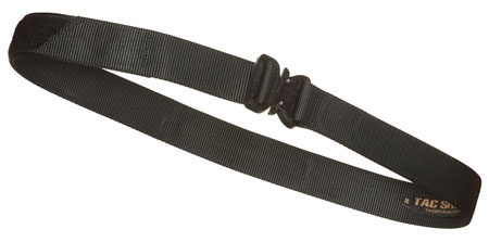 "TACSHIELD (MILITARY PROD) T30SMBK Tactical Gun Belt w/ Cobra Buckle 30""-34"" Webbing Black Small 1.50"" Wide"""""